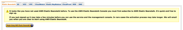 Amazon AWS Elastic Beanstalk first time use