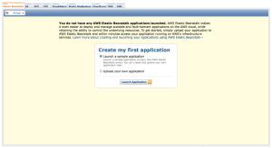 AWS Elastic Beanstalk Create my first application